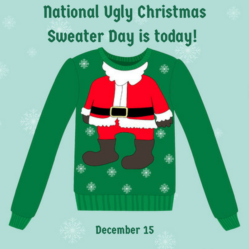Green Day Christmas Sweater.National Ugly Christmas Sweater Day Dec 15