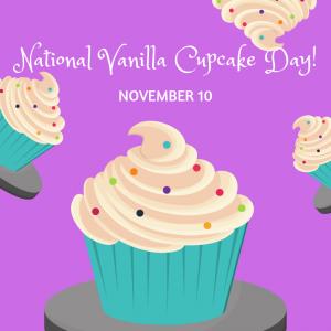Nov. 10 is National Vanilla Cupcake Day