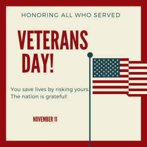 Honoring All Who Served on November 11