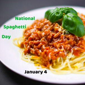 National Spaghetti Day is January 4!