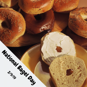 Eat Bagels & Cream Cheese on Feb. 9!