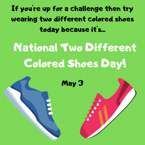 National Two Different Colored Shoes Day!