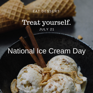 July 21 is National Ice Cream Day!