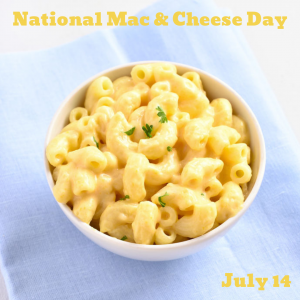 Mac & Cheese Day is July 14!