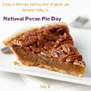 National Pecan Pie Day is July 12!