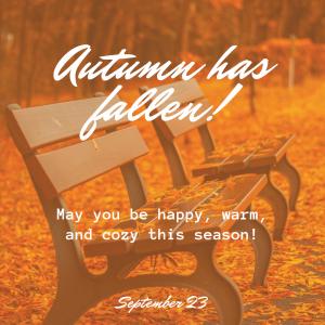 Autumn Has Fallen
