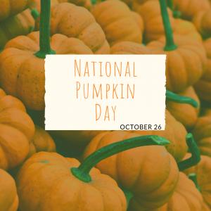 National Pumpkin Day is Oct. 26!