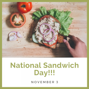 Let's Make a Sandwich on Nov. 3!