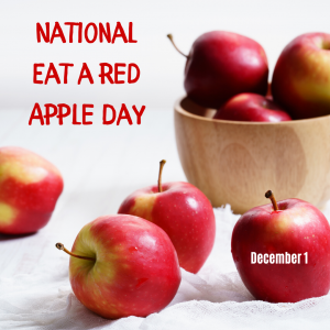 Dec. 1 is National Eat a Red Apple Day!