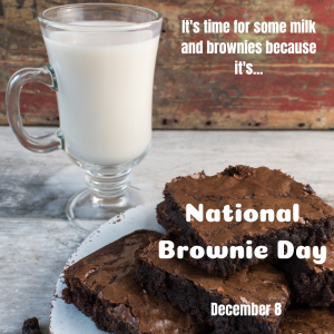 December 8 is National Brownie Day!
