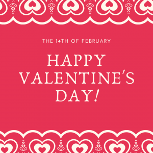 Feb. 14 is Valentines' Day!