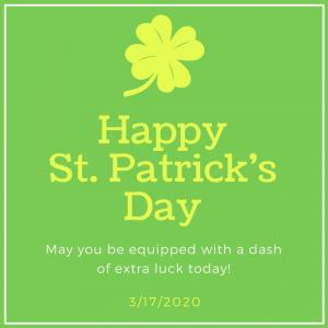 Celebrate St. Patrick's Day on March 17!