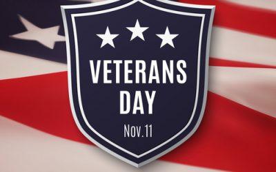 November 11 is Veterans Day.
