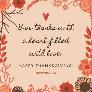 Give Thanks on November 26!