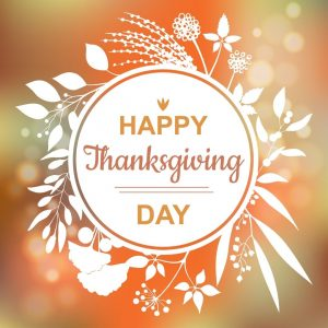Happy Thanksgiving Day – Nov. 26!