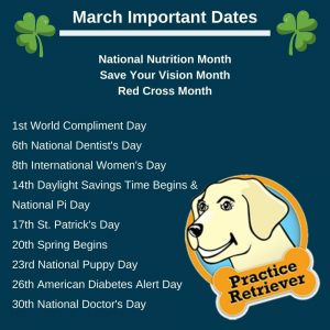 Important Dates (March 2021)